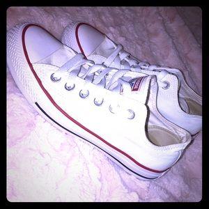 Basic white converse, worn one time.